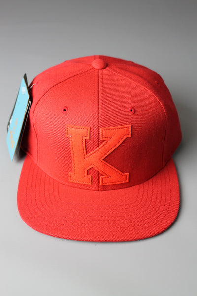 King Apparel Letterman Starter Snapback Red Adjustable Cap - 4 Seasons Store