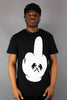 Trainerspotter TS451 The Middle Finger Short Sleeve T-Shirt Black - 4 Seasons Store