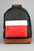 Mi-Pac Tri Tone Black White Red Backpack - 4 Seasons Store