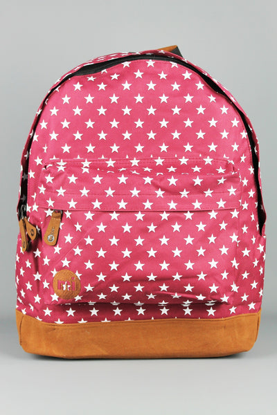 Mi-Pac All Stars Burgundy Red Rucksack Backpack - 4 Seasons Store