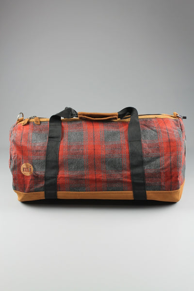 Mi-Pac Duffel/Barrel Bag Premium Plaid Check Red - 4 Seasons Store