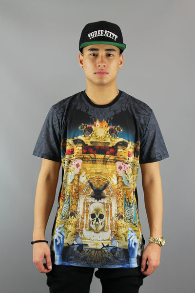 Criminal Damage Palace Crew Neck Short Sleeve Black Multi T-Shirt - 4 Seasons Store