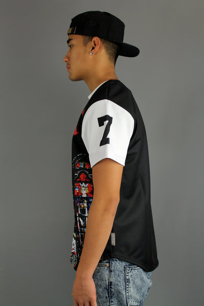 Divine Trash Holy Grail Front Panel Sublimation Print Applique Baseball Jersey - 4 Seasons Store