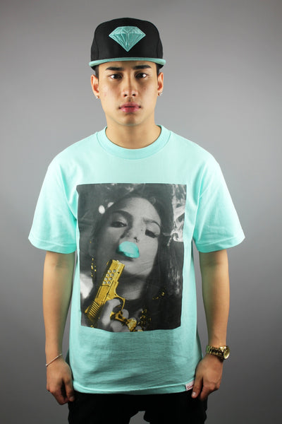 Diamond Supply Co Cassie Crew Neck T-Shirt Diamond Blue - 4 Seasons Store