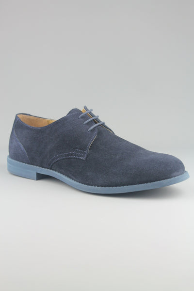 Frank Wright Wilson Navy Suede Desert Shoes - 4 Seasons Store