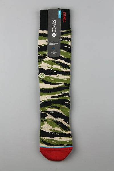 Stance Tiger Toe Camo Green Casual Socks - 4 Seasons Store