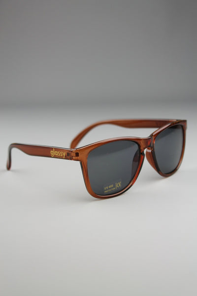 Glassy Sunhaters Deric Transparent Brown Sunglasses - 4 Seasons Store