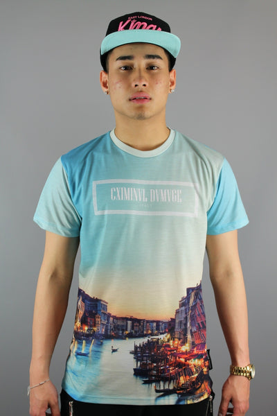 Criminal Damage Venice Crew Neck Short Sleeve T-Shirt Multi - 4 Seasons Store
