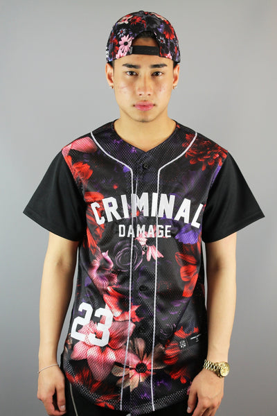 Criminal Damage Frisco Button Up Short Sleeve Jersey Black - 4 Seasons Store