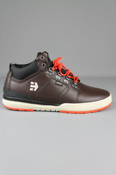 ETNIES HIGH RISE ORANGE DARK BROWN MID TOP BOOTS SKATE SHOES TRAINERS - 4 Seasons Store