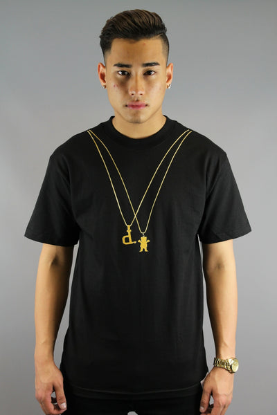 Grizzly 2 Chains Grizzly X Diamond T-Shirt Black - 4 Seasons Store