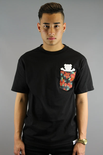 Grizzly Tropical High Pocket T- Shirt Black - 4 Seasons Store