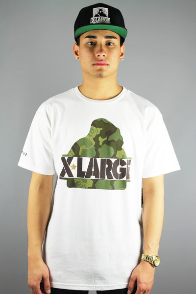 X-LARGE Clothing Camo G Short Sleeve T-Shirt White - 4 Seasons Store