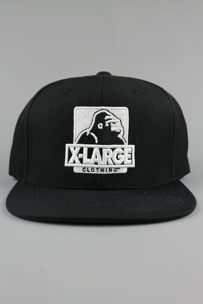 X-LARGE Clothing Classic OG Snapback Black Baseball Cap Hat