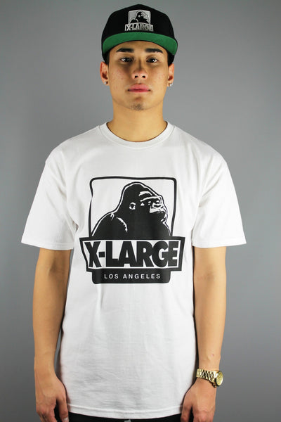 X-LARGE Clothing LA OG Short Sleeve T-Shirt White - 4 Seasons Store