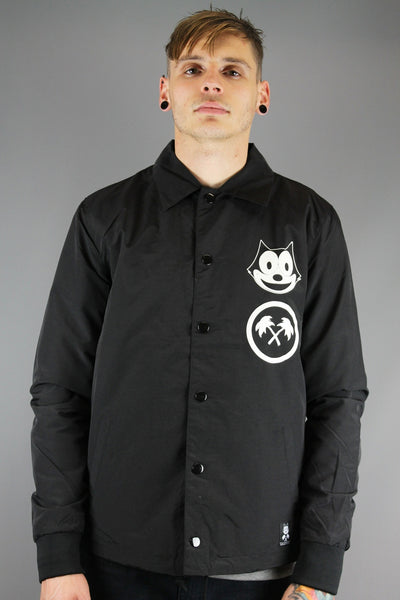 Trainerspotter TS663 Felix FSU Coach Jacket Black - 4 Seasons Store