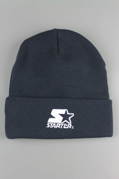 STARTER ST360 Icon Cuff Knit Beanie Hat Navy White - 4 Seasons Store