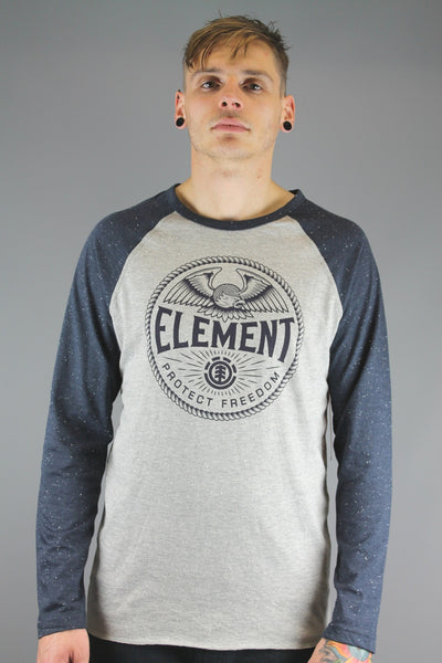 Element Q1LSA4 ELW4 9 Mens TROOPER LONG SLEEVE T Shirt Grey Heath - 4 Seasons Store