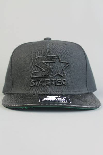 Starter ST461 Land Speed Snapback Cap Hat Black Black - 4 Seasons Store