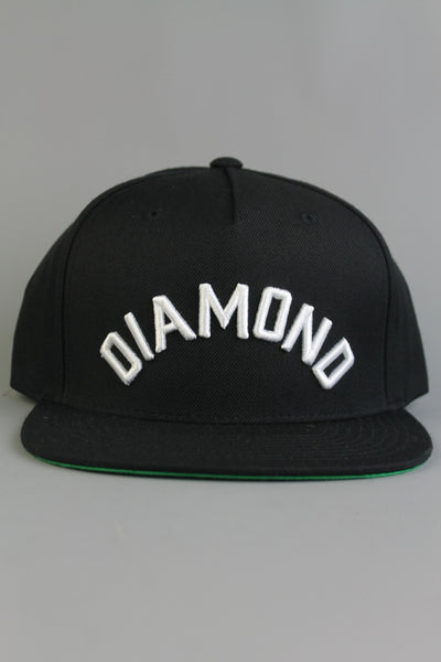 Diamond Supply Co Diamond Arch Snapback Black Adjustable Cap Hat - 4 Seasons Store
