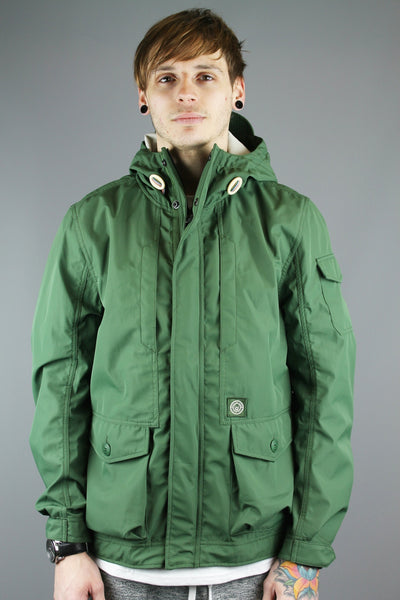 Duck & Cover DAC1G0008 Mens Zip Up Hooded Quaid Jacket Golf Green - 4 Seasons Store