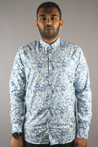 Duck & Cover DAC4D0027 Mens Harcourt Long Sleeve Shirt petrol Blue - 4 Seasons Store
