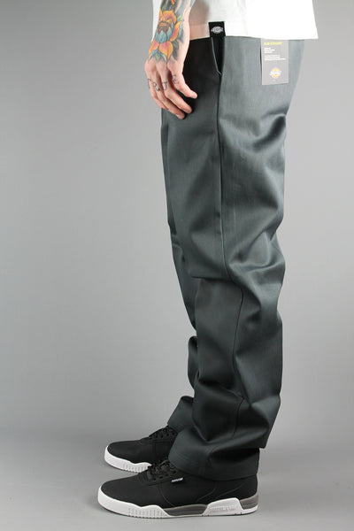 Dickies WP873 Slim Fit Straight Cut Work Pant Charcoal Grey Trouser Chino - 4 Seasons Store