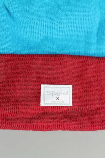 Spiral 6006 Bobble Teal Blue Burgundy Red Beanie Hat Cap Warm Winter - 4 Seasons Store