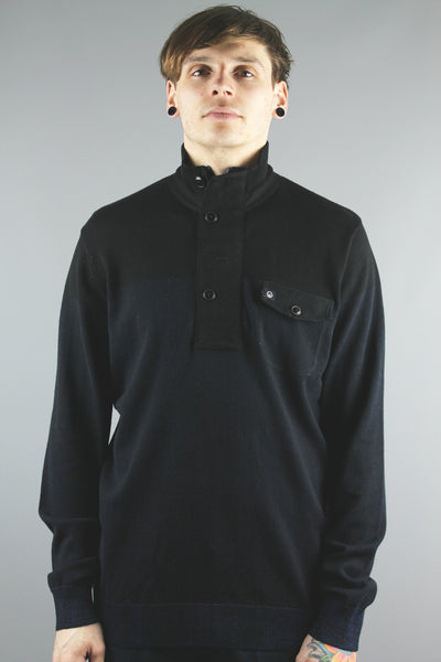 Duck & Cover DAC2J0008 Mens Arthur Knit Jumper Black - 4 Seasons Store