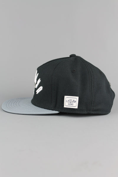 Cayler And Sons SS150601 Mens Black Grey Snake White Go Hard Snapback Cap Hat BROOKLYN - 4 Seasons Store