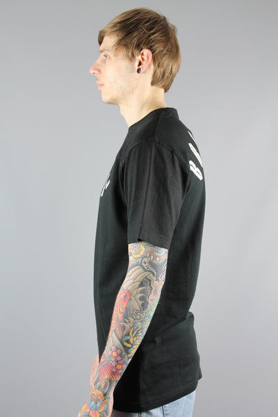Cayler And Sons SS15AP3101 Mens Black White Go Hard Crew Neck T Shirt BROOKLYN - 4 Seasons Store