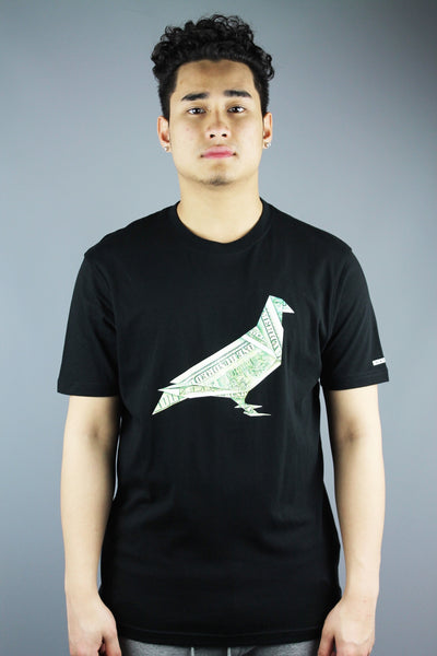 Staple Pigeon Clothing By Jeff Staple Crew Neck Origami Pigeon T Shirt Black - 4 Seasons Store