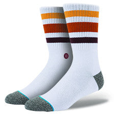 Stance M3110ACI Side Step Boyd White Combed Cotton Everyday Casual Socks - 4 Seasons Store
