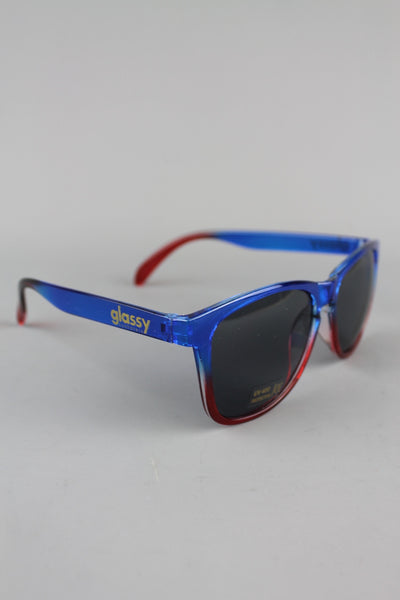 Glassy Sunhaters Deric Navy Blue Frame Red Mirror Sunglasses - 4 Seasons Store