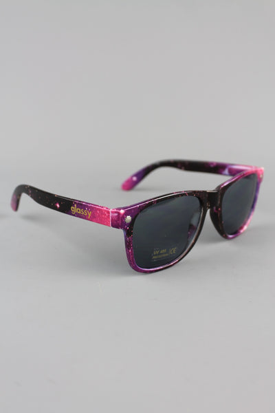 Glassy Sunhaters Leonard Galaxy Purple Frame Sunglasses - 4 Seasons Store