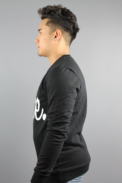 HYPE JUST HYPE Mens Black White Crew Neck Sweatshirt - 4 Seasons Store