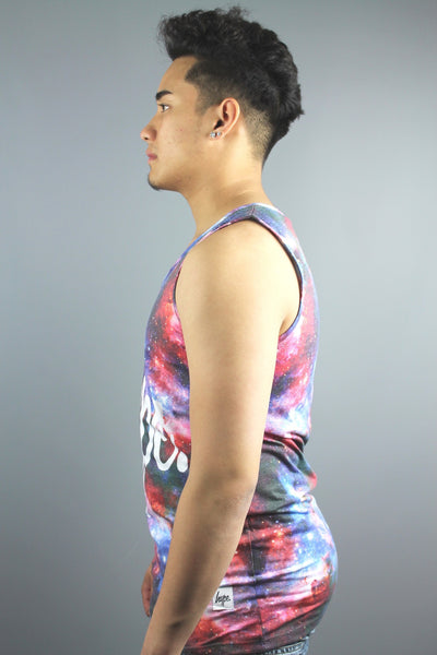 HYPE JUST HYPE INTERGALACTIC Mens Multi Sleeveless Vest - 4 Seasons Store