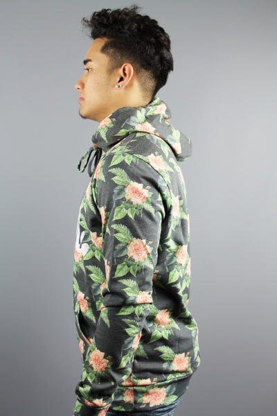 HYPE JUST HYPE Mens FEB Flowers Hoodie Multi - 4 Seasons Store