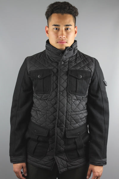 Lindbergh 30-36030 Mens Quilted Jacket Black - 4 Seasons Store