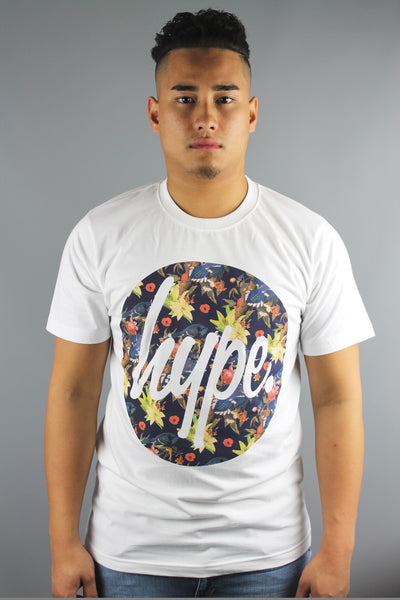 HYPE JUST HYPE Mens Nesting Birds Circle Crew Neck Short Sleeve T Shirt White - 4 Seasons Store