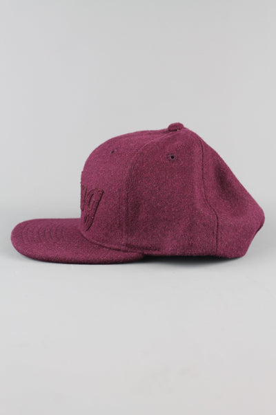 King Apparel Script Heritage AW15-SCHCM 6 Panel Snapback Cap Hat Burgundy Red - 4 Seasons Store