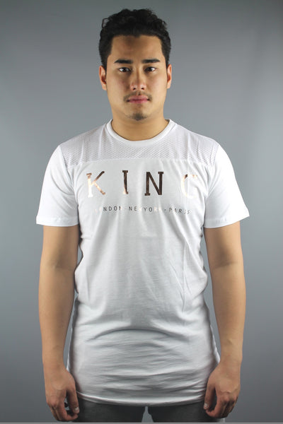 King Apparel AW15-ITW Men Internationalist Longline Short Sleeve T-Shirt White - 4 Seasons Store