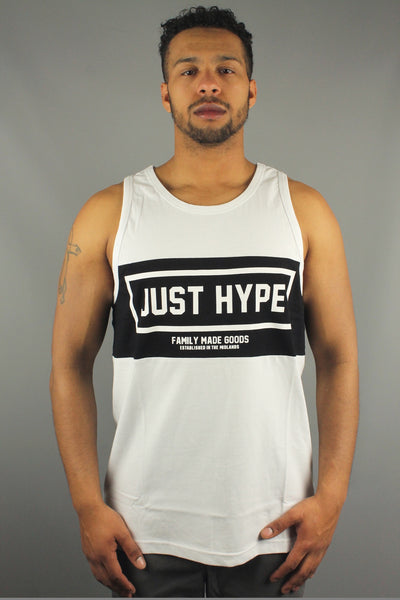 Hype Just Hype Sporting SS16CS80 Mens Sleeveless panel print Vest White - 4 Seasons Store