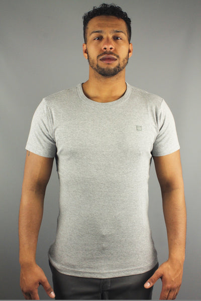 Duck & Cover AAA150002 Colin Men Short Sleeve Crew Neck T Shirt Light Grey Marl - 4 Seasons Store