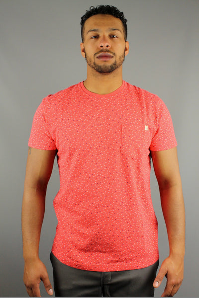 Duck & Cover DAC5G0131 Mens Finch Short Sleeve T Shirt Corel Red - 4 Seasons Store