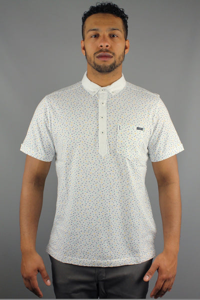 Duck & Cover DAC5H0083 UBOS Mens Short Sleeve Flying Ducks Polo Shirt White - 4 Seasons Store