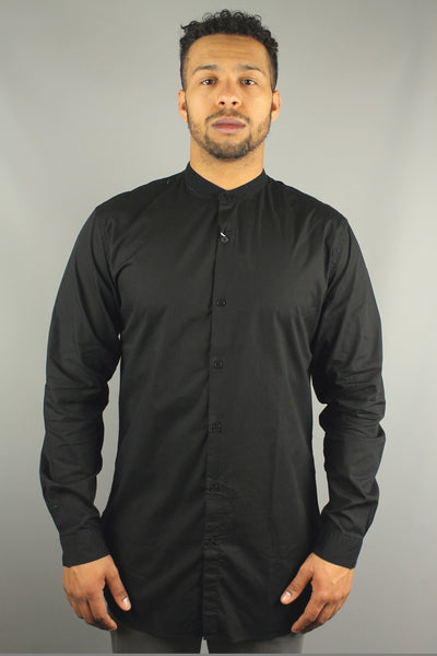 Lindbergh 30-29154 Mens Extra Long Long Sleeve Shirt Black - 4 Seasons Store
