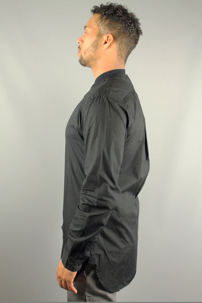 Lindbergh 30-29154 Mens Extra Long Long Sleeve Shirt Black