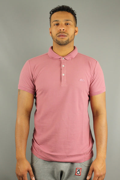 Lindbergh 30-48021 Mens Short Sleeve Polo Shirt Dark Rose Pink - 4 Seasons Store
