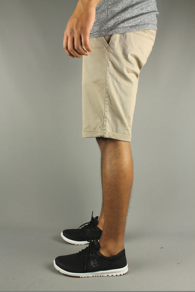 Lindbergh 30-54007 Mens Stretch Chino Shorts Sand Beige